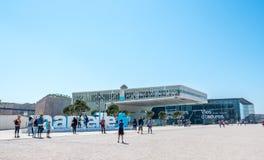 Museum på Marseille port Royaltyfri Foto