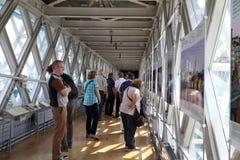 Museum på observationsdäcket av tornbron, London Royaltyfria Bilder