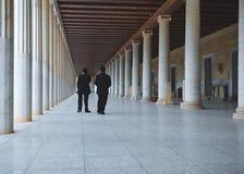 Museum på den forntida marknadsplatsen Athens Grekland Royaltyfri Fotografi