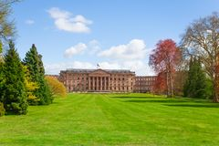 Museum Palace Wilhelmshohe in Bergpark. Museum Palace Schloss Wilhelmshohe in Bergpark  near Kassel Stock Photo