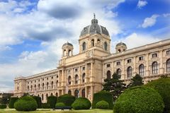 Museum with park in Vienna Royalty Free Stock Photos
