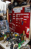 Museum peaceful weapons Ukrainian law enforcers Stock Photos