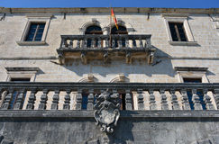 Museum of Perast. Museum in Perast, old town in the Bay of Kotor, Montenegro Stock Images