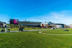 Museum plein in Amsterdam lizenzfreies stockbild
