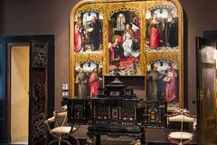 Museum of the Poldis Pezzoli, exposition of luxury from the collections of the nobility of Milan. 4 JUNE 2018, MILAN, ITALY: Museum of the Poldis Pezzoli stock photo