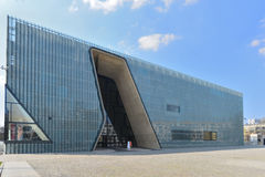 Museum of Polish Jews history in Warsaw. Museum of History of Polish Jews in Warsaw. Architectural design of Finnish architects Lahdelm & Mahlamaki. Angle view Royalty Free Stock Photo