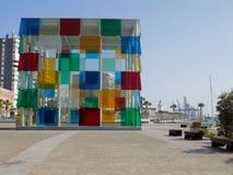 Museum Pompidu - MALAGA-Anadalucia-España Fotografering för Bildbyråer