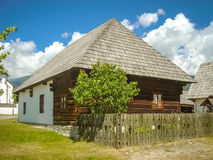 Museum in Pribylina. Old wooden house in village museum in Pribylina near Liptovsky Mikulas in Slovakia royalty free stock photography