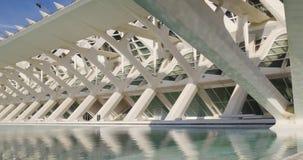 Museum Prinzen Felipe der Wissenschaftstageslichtstadt der Kunst 4k Valencia Spanien stock video footage