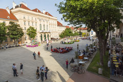 Museum quarter with restaurants & cafes Stock Photography