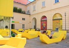 Museum Quarter. Vienna, Austria Royalty Free Stock Image