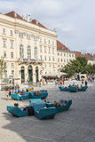 The Museum Quarter in Vienna Stock Photography