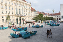 The Museum Quarter in Vienna Royalty Free Stock Photography