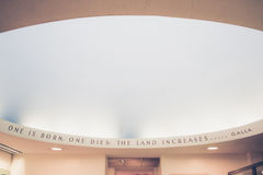 Museum quote Royalty Free Stock Image