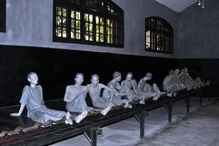 Museum reconstruction of French era prisoners in Hỏa Lò Stock Photography