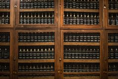 Museum - repository of expensive vintage wine Madera. Royalty Free Stock Image
