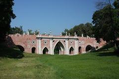 "Museum - reserve ""Tsaritsyno"". Large bridge. Royalty Free Stock Photos"