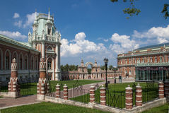 Museum-reserve Tsaritsyno in Moscow, Russia. View of the Palace in state historical and architectural museum-reserve Tsaritsyno in Moscow, Russia royalty free stock photos