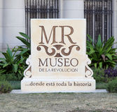 Museum of the Revolution Sign stock image