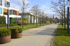 Museum road through rebuilt Roombeek Royalty Free Stock Photos
