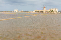 Museum of salt and salt marsh in Nubia. Sicily Royalty Free Stock Photo