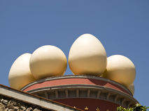 Museum of Salvadore Dali. Eggs on the  Salvadore Dali's  museum-theatre, Figueras, Spain Royalty Free Stock Photo