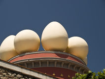 Museum of Salvadore Dali. Eggs on the  Salvadore Dali's  museum-theatre, Figueras, Spain Royalty Free Stock Photos