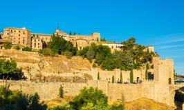 Museum of Santa Cruz, Convento de La Concepcion and Alcantara Bridge in Toledo, Spain. Museum of Santa Cruz, Convento de La Concepcion and Alcantara Bridge in royalty free stock photography