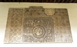 Museum of Santa Cruz. Mosaic dating from the 3rd century AD in the Museum of Santa Cruz, Toledo, Spain royalty free stock photo