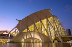Museum of science in Valencia, Spain stock images