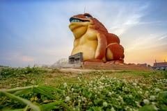 Landmark yasothon thailand. MUSEUM SERPENT KARK :April 01 2019 Tourists visit the new public landmark of Yasothon province, in the northeastern of Thailand royalty free stock image