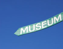 Museum sign Royalty Free Stock Images