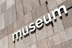 Museum Sign Royalty Free Stock Image