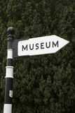 Museum Sign in England Royalty Free Stock Image