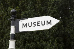 Museum Sign in England Stock Photography