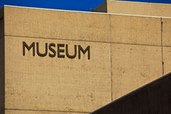 Museum Sign on Museum Building Royalty Free Stock Photos