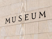 Museum Sign Stock Image
