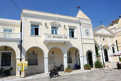 Museum Solomos and Kalvos on St. Markos Square in Zakynthos Stock Photo