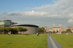 Museum Square in Amsterdam stock photography