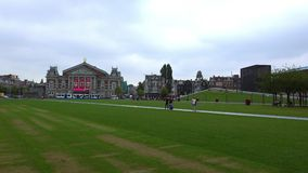 Museum Square Amsterdam  City of Amsterdam stock video footage