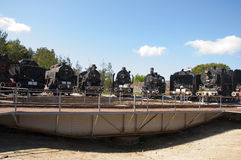 Museum of steam locomotives in Turkey Stock Photography