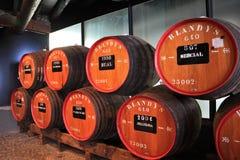 The museum - storage of  wine Madeira Stock Image