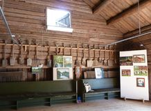 Museum in a Swedish wood barn Royalty Free Stock Photo