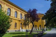 Museum of Szekszard. Frontside of the Wosinsky Mor County Museum, Szekszard, Hungary Royalty Free Stock Images