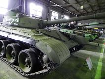 Museum of tanks and armored weapons. Museum dedicated to military equipment and technology.  Details and close-up. royalty free stock photo