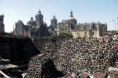 Museum Templo Mayor in Mexico city. Museum of Templo Mayor located in the historical centre of Mexico city. Near the Cathedral Stock Photos