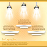 Museum of tentoonstellings modern infographic malplaatje Royalty-vrije Stock Afbeeldingen