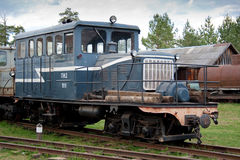 Museum of trains. Russia Royalty Free Stock Images