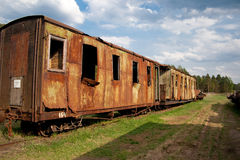 Museum of trains. Russia Royalty Free Stock Photography