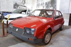 Museum of Transport Bratislava - Škoda Locusta prototype. Red Skoda Locusta prototype made in Bratislavské automobilové závody BAZ stock photo